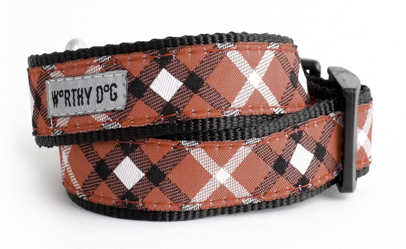 Collar-Bias Plaid Red