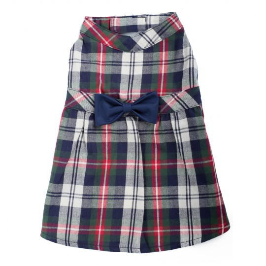 Dress-Navy Plaid