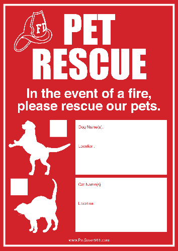 Pet Rescue Decal