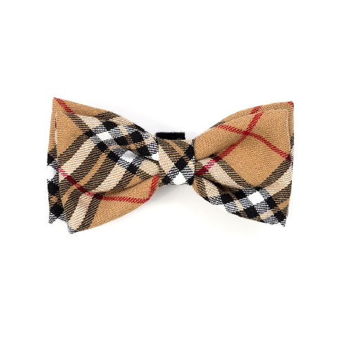 Bowtie-Tan Plaid