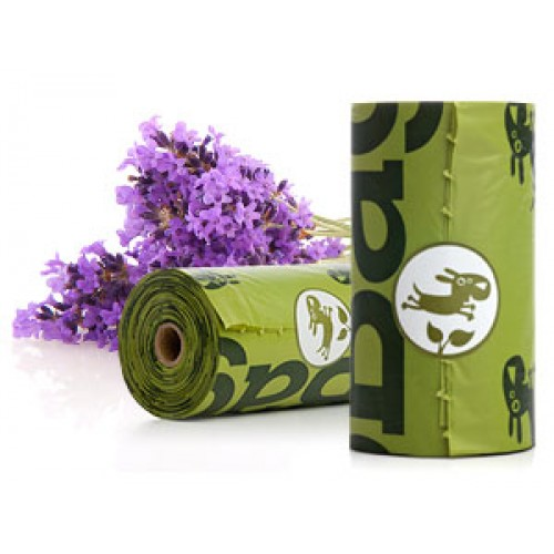 Earth Rated-Poop Bag Singles  Lavender scent 15 ct
