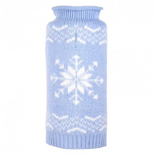 Sweater-Snowflake Icy Blue