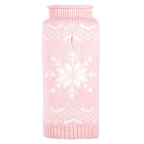 Sweater-Snowflake Icy Pink