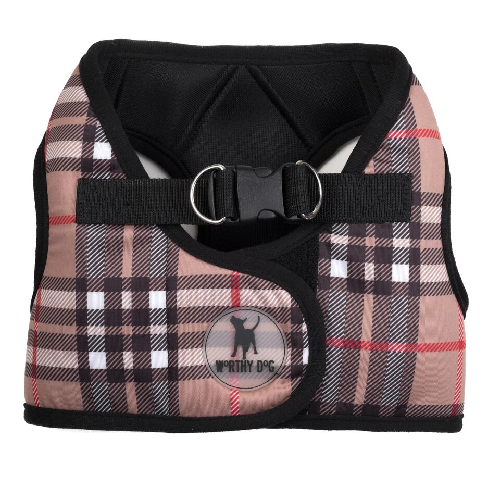 Printed Harness-Bias Plaid Tan