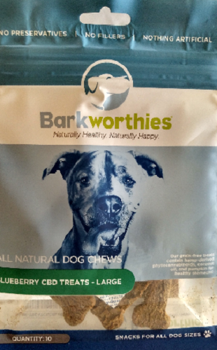 Bark-CBD Treat Blueberry   Large