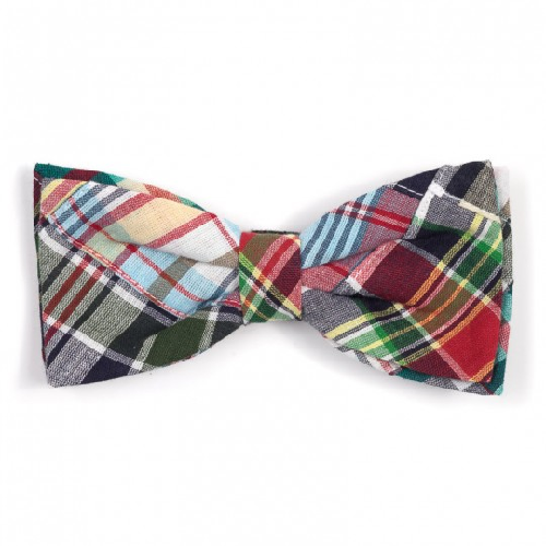 Bowtie-Navy Madras Patch