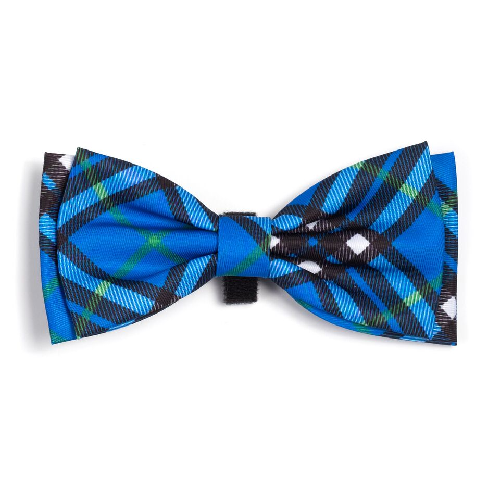 Bowtie-Bias Plaid Blue
