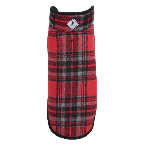 Alpine Fleece-Red/Black Plaid