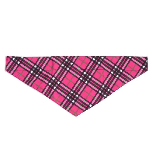 Bandana-Bias Plaid Hot Pink