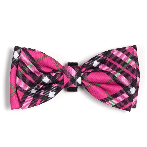 Bowtie-Bias Plaid Hot Pink