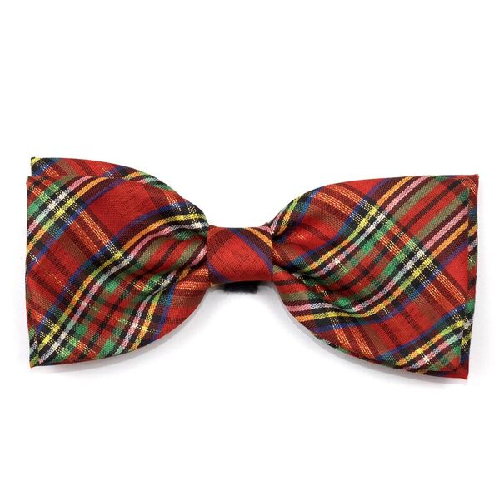 Bowtie-Red Lurex Plaid