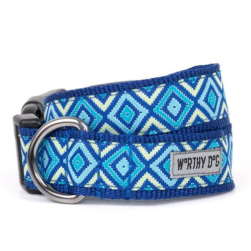 Collar-Graphic Diamond Blue