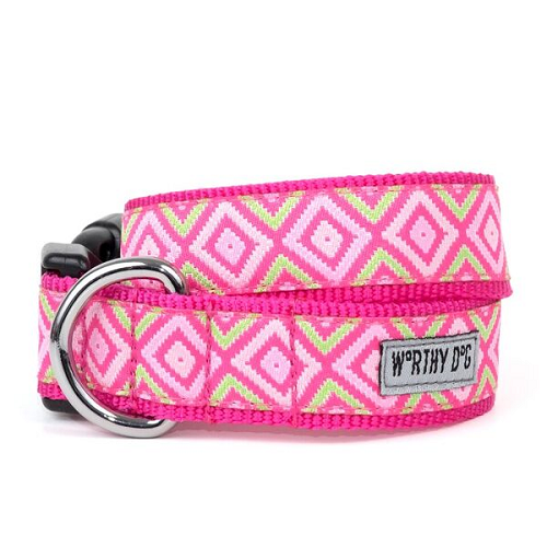 Collar-Graphic Diamond Pink