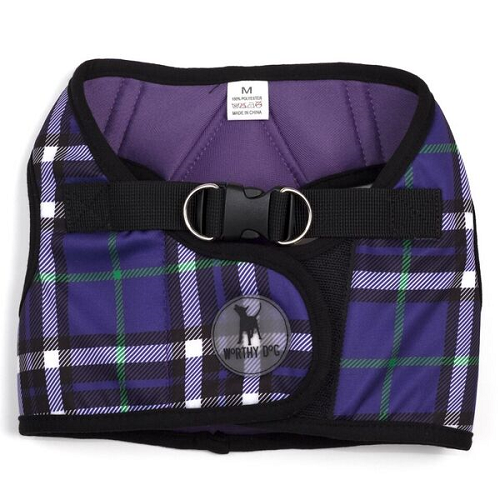 Printed Harness-Bias Plaid Purple