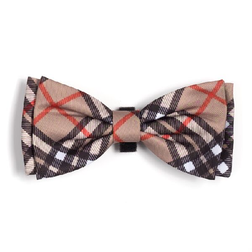 Bowtie-Bias Plaid Tan