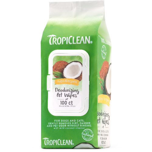 Tropiclean-Hypo-Allergenic Bath Wipes   100ct