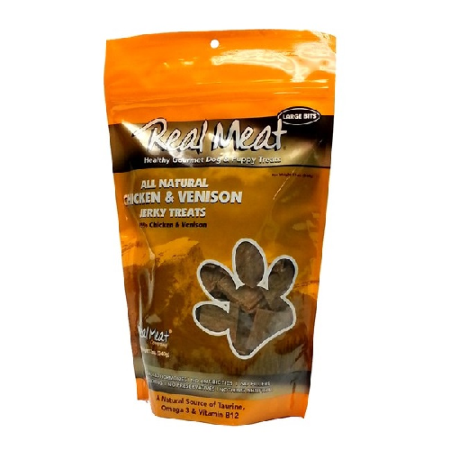 Real Meat Dog-Chicken/Venison Jerky Treats   4oz