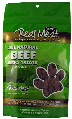 Real Meat Dog-Beef Jerky Treats   4oz
