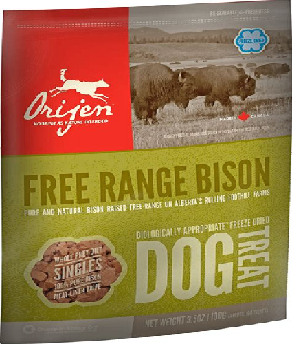 OR-Dog Freeze Dried Bison Treats   3.25oz