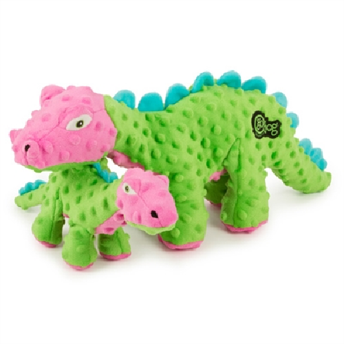 GD-Dino Spike Plated Green  Green/pink SM