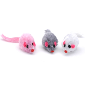 Cat Toys-Furry Mice bulk Asst