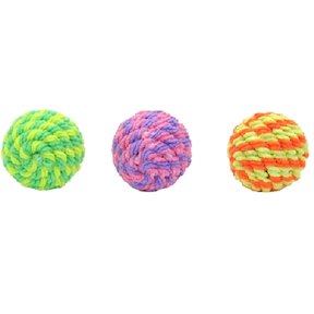 Cat Toys-Rattle Sisal Ball bulk Asst