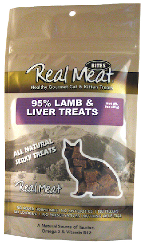 Real Meat Cat-Lamb/Liver Jerky Treats   3oz