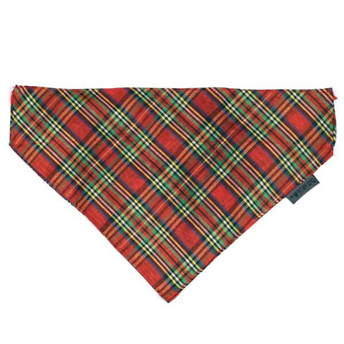 Bandana-Red Lurex Plaid*