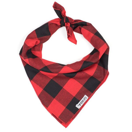 Bandana-LG Buffalo Check Red/Black (Tie)