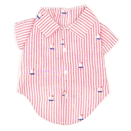 Shirt-Red Stripe Sailboats*
