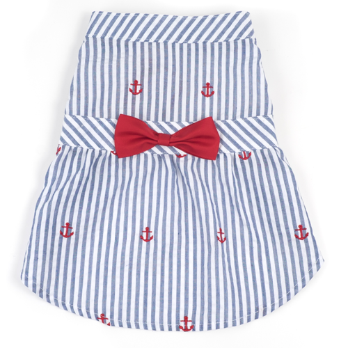 Dress-Navy Stripe Anchor*