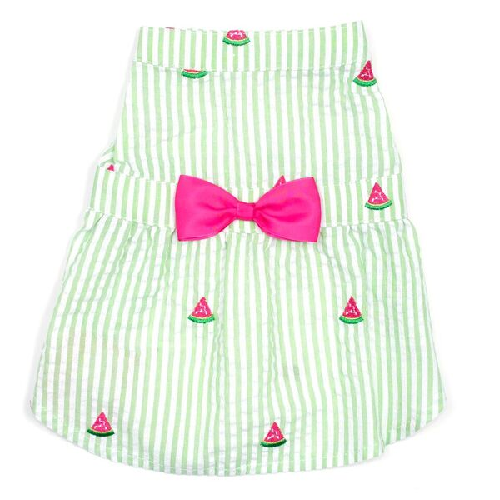 Dress-Green Stripe Watermelon*
