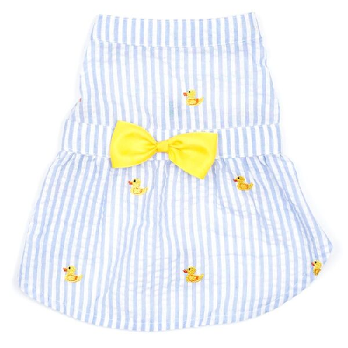 Dress-Lt Blue Stripe Rubber Duck*