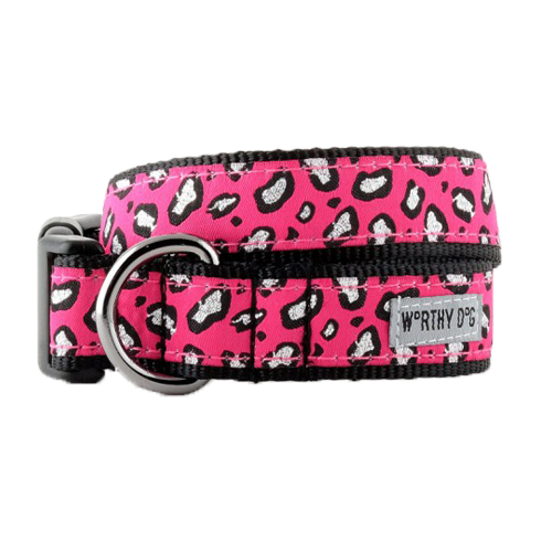 Collar-Cheetah Pink**