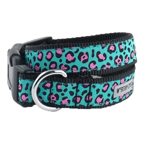 Collar-Cheetah Teal**