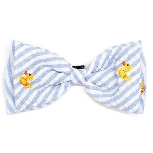 Bowtie-Lt.Blue Stripe Rubber Duck*
