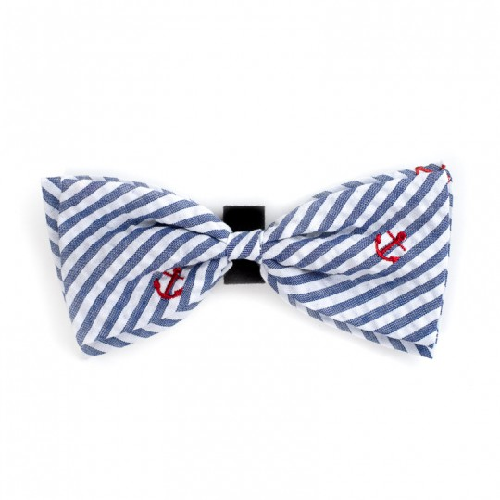 Bowtie-Navy Stripe Anchor*
