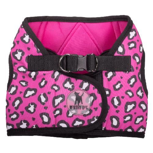 Printed Harness-Cheetah Pink**