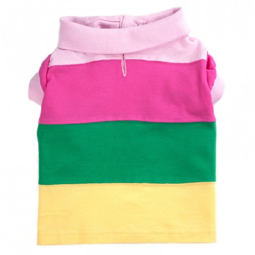 Polo-Pastel Color Block*