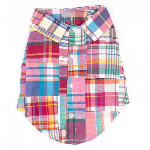 Shirt-Bright Madras Patch**