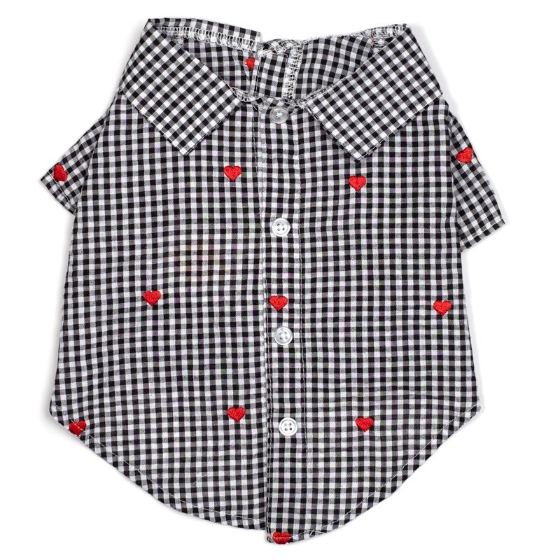 Shirt-Gingham Hearts*