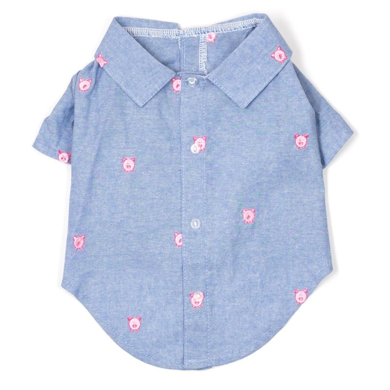 Shirt-Chambray Wilbur the Pig*