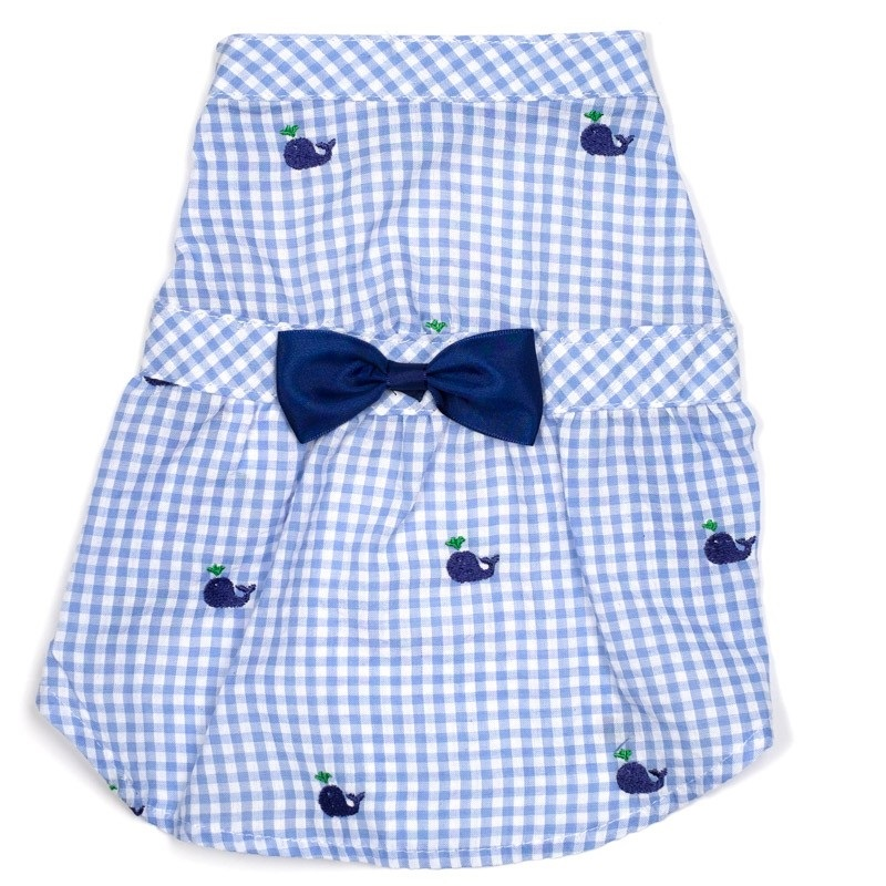 Dress-Gingham Whales*