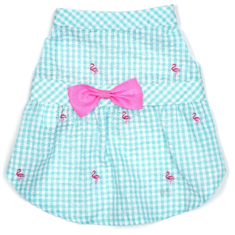 Dress-Gingham Flamingos*