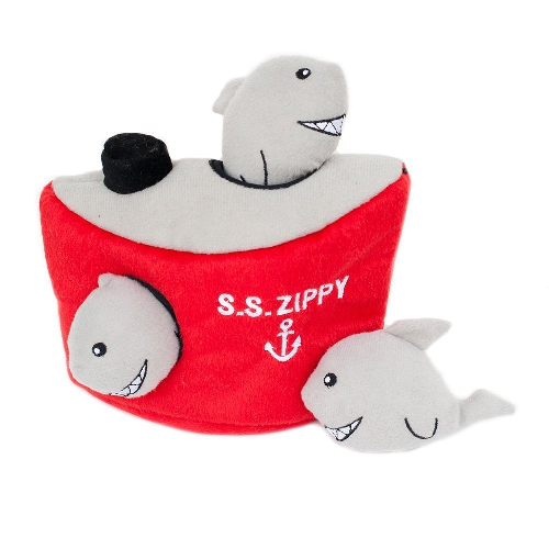 ZP-Burrows Shark/Ship  Red/Gray