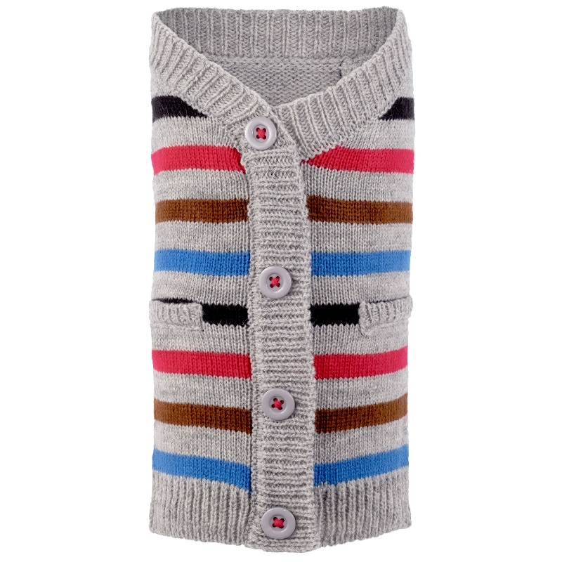 Cardigan-Striped Blue*