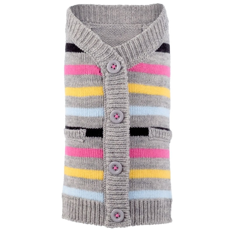 Cardigan-Striped Pink*