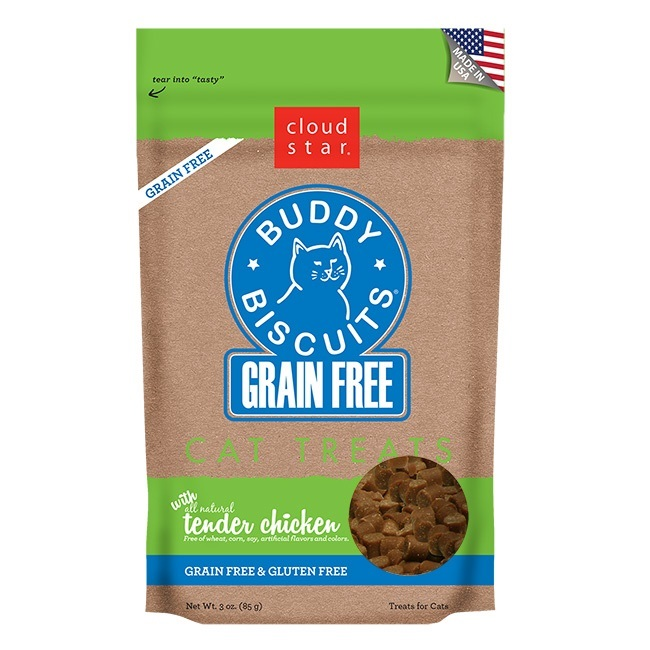Cloudstar-Feline Buddy Biscuit GF Chicken   3oz