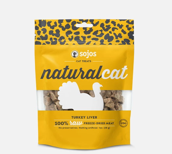 SOJOS-Natural Cat FD Treats Turkey Liver   1oz