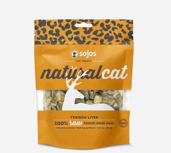 SOJOS-Natural Cat FD Treats Venison Liver   1.25oz